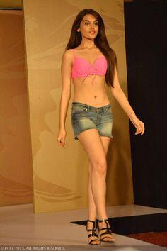 fbb Femina Miss India 2015 finalist Deeksha Kaushal during the Centro Miss Rampwalk.
