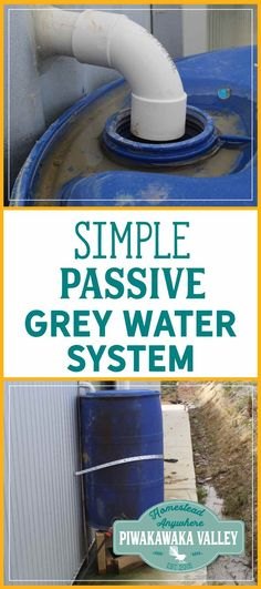 Setting up the passive grey water system was surprisingly easy and very cheap to do. This is a simple, passive grey water system, that works! Aquaponics System, Aquaponics Diy, Aquaponics Greenhouse, Septic System, Grey Water System Diy, How To Start Small Garden, Crop Production And Management, Rainwater Cistern, Grey Water Recycling