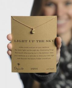 Let your light shine bright in the darkness & inspire others to do the same. For every purchase, $7 goes to a good cause! ►http://www.sevenly.org/accessories/jewelry/light-up-the-sky-moon-necklace-18-1?cid=InflPinterest0005Joanna