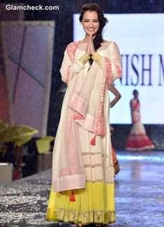 Dia Mirza for Manish Malhotra @ 8th annual 'Caring with Style' Fashion Show, June, 2013, in association with The Cancer Patients Aid Association