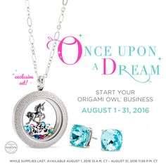 Origami Owl. ✨ Make your dreams come true this month! ✨ Available August 1-31 (CDT), simply join my Origami Owl team by purchasing a starter kit this month and you'll receive this exclusive look with your kit! And, I'll get one too!  www.CharmingLocketsByAline.OrigamiOwl.com