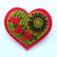 EMBROIDERED HEART FELT BROOCH - VALENTINE'S DAY | Flickr - Photo Sharing!