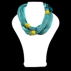 T-shirt yarn, textile necklace
