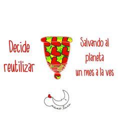 Decide reutilizar salvando al planeta un mes a la ves...  Copas menstruales Menstrual Cup