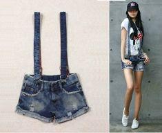 9d9e76ca45 Macacão Jeans, Mulheres, Roupas, Jeans Curtos, Shorts Jeans, Macacões Para  Mulheres