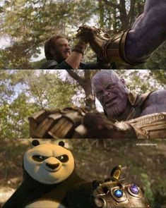 he can defeat thanos ...haha #thanos #marvelcomics #captainamerica #KungFuPanda
