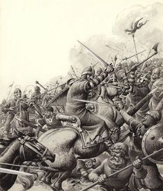 Battle of Hastings - October 1066 Viking Warrior, Viking Age, Viking Battle, Anglo Saxon History, British History, Medieval Knight, Medieval Fantasy, Viking Facts, Norman Knight
