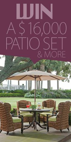 Amazing Win A $16,000 Patio Set