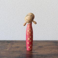 Creative Kokeshi doll cute vintage Japanese Sosaku Kokeshi collectors kokeshi home decor Vintage Storage, Vintage Tins, Vintage Wood, Vintage Style, Matryoshka Doll, Kokeshi Dolls, Hama Beads Minecraft, Perler Beads, Peyote Patterns