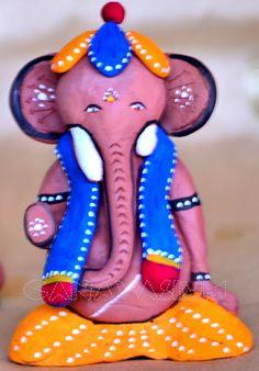 Handmade Air dry clay pulaiyar/ganesha DIY - Pulaiyar Suzhi | canavāsium