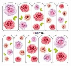 Beautiful pink rose nail art water decals an easy way to create the perfect flower nail design in minutes.