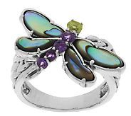 Carolyn Pollack Abalone Doublet & Gemstone Dragonfly Ring Deal~~ Must have
