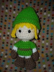 Link from Legend of Zelda.  This is an awesome crochet pattern!  Now to find an excuse to make it....