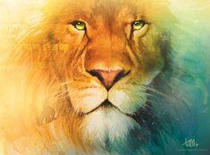 'Lion of Judah' acrylic painting (tamarapatrick.com)