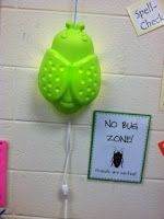 "No BUG Zone!  Use at your Guided Reading table so students know you are working with friends and not to ""BUG you:)"