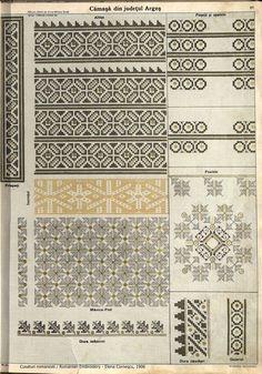 Folk Embroidery, Embroidery Patterns, Cross Stitch Flowers, Cross Stitch Charts, Star Patterns, Pattern Books, Cross Stitching, Romania, Blackwork