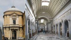 (left) Atrio dei Quattro Cancelli; (right) Braccio Nuovo