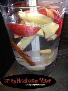 Apple Cinnamon Metabolism Water http://www.stockpilingmoms.com/2013/03/apple-cinnamon-metabolism-water/
