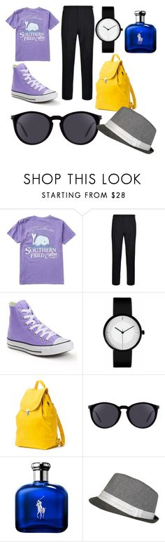 """""""That's my style"""" by riccardodixie on Polyvore featuring DKNY, Converse, BAGGU, Yves Saint Laurent, Ralph Lauren, men's fashion and menswear"""