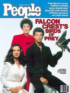 Falcon Crest:  Angela Channing, Melissa Agretti Cumson and Lance Cumson