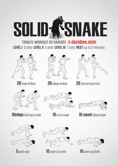Solid Snake Workout
