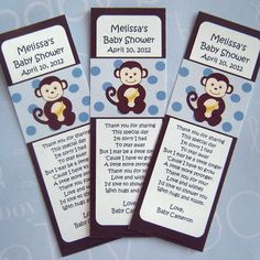 Baby shower favor...book marks.  Totally using this!!