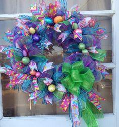 Deco Mesh Easter/Spring Wreath https://www.etsy.com/shop/IslandGirlWreaths?ref=l2-shopheader-name