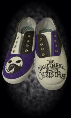 Hand Painted Nightmare Before Christmas Shoes on Etsy, $25.00