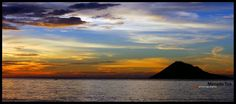 manado tua mountain... the beautifull sunset from manado north sulawesi indonesia...