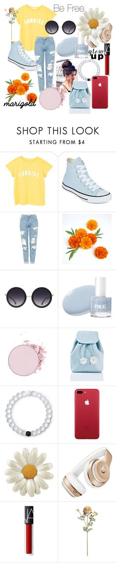 """""""Summer Glow"""" by phoenix-feather89 ❤ liked on Polyvore featuring MANGO, Converse, Topshop, Alice + Olivia, Sugarbaby, Lokai and Beats by Dr. Dre"""