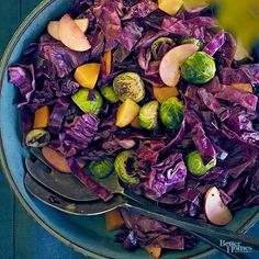 Say good-bye to bland, mushy cabbage. Adding an apple at the end gives this fall side a little sweetness and plenty of crunch. /