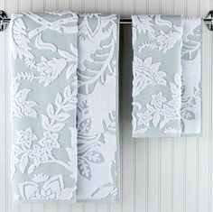 Tamara Sculpted Bath Collection, Surf - traditional - towels - World Market <3