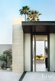 Modern Concrete Entry