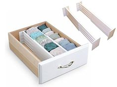 FiNeWaY@ SET OF 2 DRAWER DIVIDERS PARTITION SPRING LOADED EXPANDABLE KITCHEN  BEDROOM ORGANISER