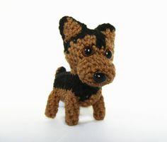 Small Amigurumi Crochet German Shepherd Dog  Made by MaxisKennel, $20.00