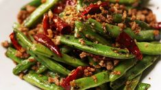 Stir Fried Green Beans With Ginger And Onions Recipe . Stir Fried Green Beans With Ginger And Onions Recipe . Beans And Pork Mince Stir Fry Recipe Food Minced Meat . Home and Family Stir Fry Greens, Stir Fry Green Beans, Shrimp And Green Beans, Fried Green Beans, Easy Green Bean Recipes, Easy Healthy Recipes, Green Bean Curry, Chinese Green Beans, Seasoned Green Beans