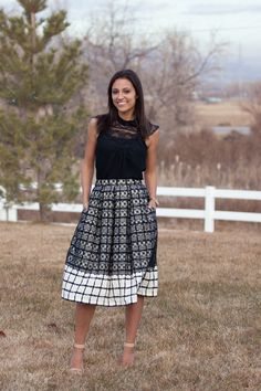 Plaid and Lace Pleated Skirt - so gorgeous!! This is a full tutorial, too!