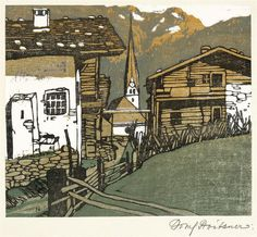 Josef Stoitzner, Austrian (1884-1951) - Farb-Holzschnitt ::: colour woodcut