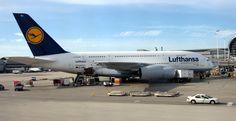 Airbus 380 at Miami Airport