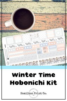 Kawaii Winter sticker kit for your Hobonichi (or Fauxbonichi) Weeks. These stickers are printed on the finest matte paper known to man, and kiss cut so they're good to go straight out of the box! S Planner, Planner Supplies, Happy Planner, Best Planners, Printable Planner Stickers, Hobonichi, Small Shops, Bullet Journals, Erin Condren