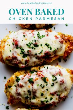 Easy, delicious and savory recipes for oven baked chicken parmesan. Let's try this amazing recipe at your home. Oven Baked Chicken Parm Recipe, Easy Chicken Parmesan Bake, Parmesan Chicken Breast Recipe, Yummy Chicken Recipes, Baked Chicken Breast, Chicken Freezer Meals, Martha Stewart, Allrecipes, Lemon