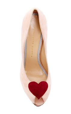 Charlotte Olympia Delphine Pump In Suede by CHARLOTTE OLYMPIA | SS 2016
