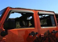 Window Visors, Matte Black, 4-Door; 07-16 Jeep Wrangler JK