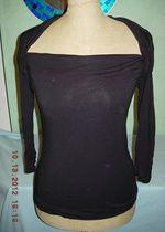 Czarna elastyczna elegancka bluzeczka bluzka top L XL