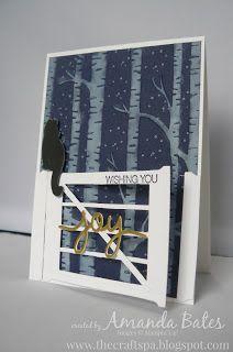 Hearth & Home Framelits, Woodland Embossing folder, cat from Festive Fireside bundle - Stampin' Up