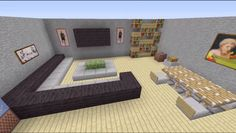 To ease you finding types of minecraft living room designs you want. This awesome minecraft living room designs contain 15 fantastic design. Modern Minecraft Houses, Minecraft House Designs, Minecraft Blueprints, Minecraft Architecture, Minecraft Creations, Minecraft Buildings, Living Room In Minecraft, Minecraft Room, Minecraft Crafts