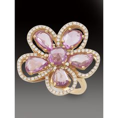 PINK SAPPHIRE DIAMOND RING - Rings - Jewelry