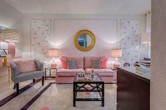 10 Salas de estar elegantes e alegres em tons rosa - Decoração e Ideias
