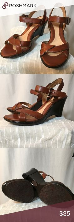 2f653e0f0a Sofft Brand Cognac Leather Wedges Never Worn Never worn! This is a  beautiful pair of