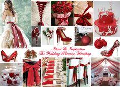 ~ Gorgeous Red/White Christmas Wedding Colour Inspriation Palette  - Ideas & Inspiration - www.weddingplannerhandbag.co.uk